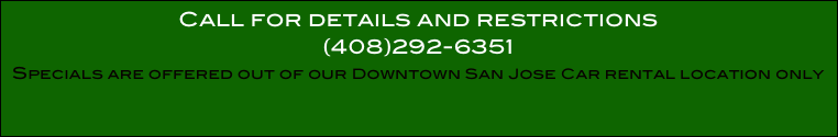 Call for details and restrictions